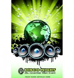 world sound disco vector image