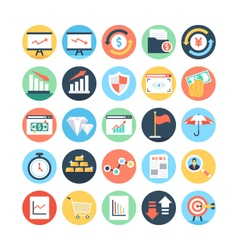 Market and economics colored icons 4 vector