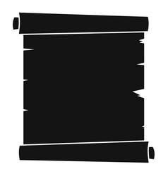 retro scroll paper icon simple vector image