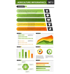 Agriculture infographic set vector