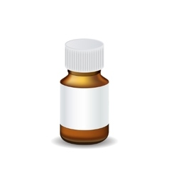 Medical bottle template vector