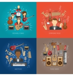 Music design concept set vector