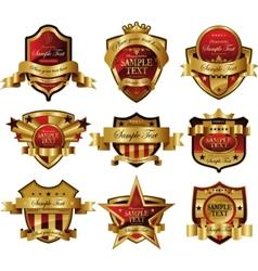 decorative ornate gold frame label vector image