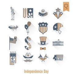 Independence day of the united states vector