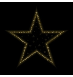 Golden star icon vector