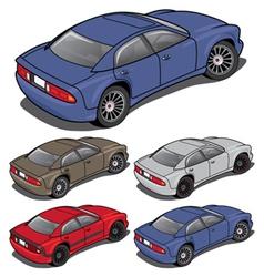 Modern Sedan from Rear vector image