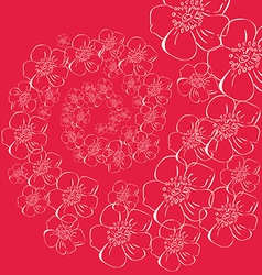A spiral of flowers vector