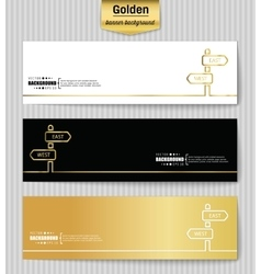 Abstract creative concept gold background vector image vector image