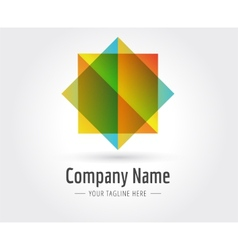 Abstract star logo template for branding vector image vector image