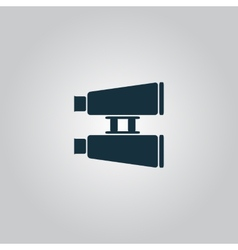 Binocular icon vector image vector image
