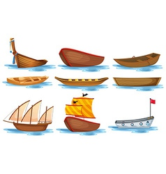Boat set vector image vector image