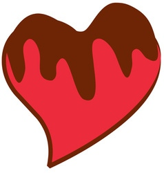 Chocolate covered heart vector