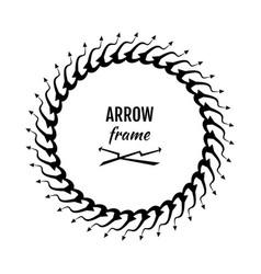 circle frames or borders made of arrows symbols vector image vector image