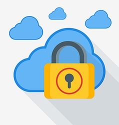 Cloud storage security concept in flat desi vector image vector image