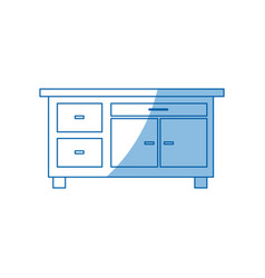 desk furniture work office image vector image