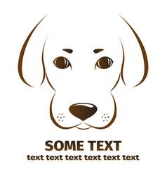 Dog on white background symbol icon logo design vector