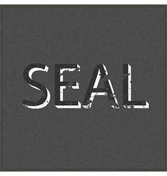 Empty Seal realistic black board in format vector image vector image