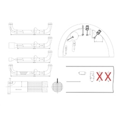 Engineering drawing isolated on white vector