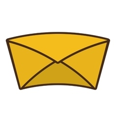 Envelope letter paper isolated icon vector