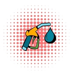 Gas station gun icon comics style vector image vector image