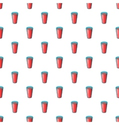 Glass of water pattern cartoon style vector