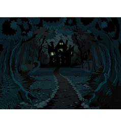 Halloween Forest vector image