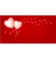 Heart balloon design for valentines day vector image vector image