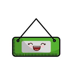 Kawaii store sign icon vector