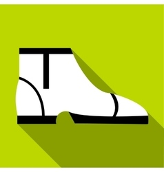 Man boot icon flat style vector