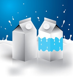 Milk box packaging eps 10 vector