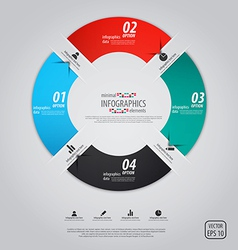 Minimal infographics option pie vector image vector image