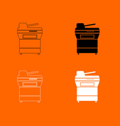 Multifunction printer or automatic copier icon vector