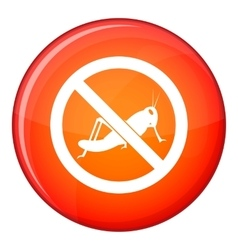 No locust sign icon flat style vector
