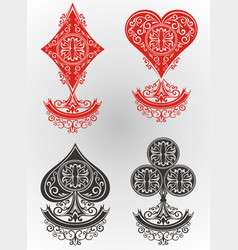 playing cards set vector image vector image