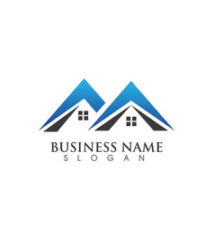 real estate and home buildings logo icons template vector image vector image