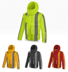 reflective jacket isolated on transparent vector image