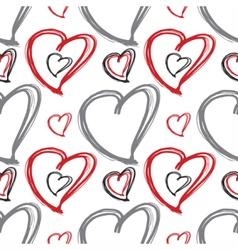 Romantic seamless pattern vector