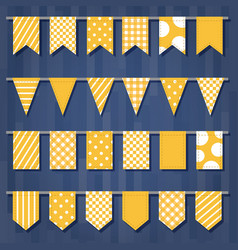 Set of garlands with flags cute simple patterns vector