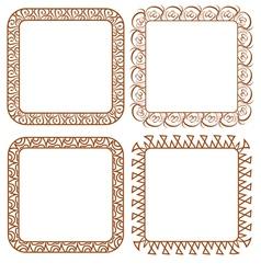 Set openwork frame for design vector image
