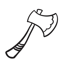 simple black and white axe vector image