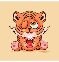 Tiger cub good morning vector