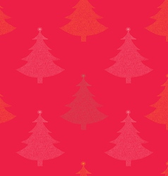Seamless pattern christmas tree vector