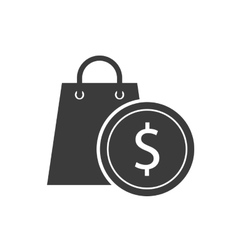 Coin money investment icon vector