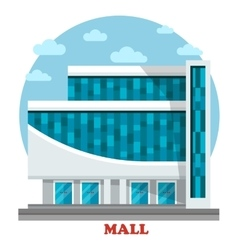 Supermarket or mall outdoor exterior view vector