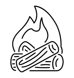 Burning bonfire icon outline style vector