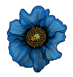 beautiful blue flower vector image