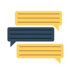 Bubbles speech dialog speak text vector