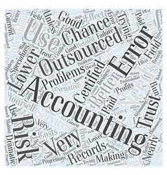 Why use outsourced accounting word cloud concept vector