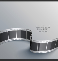 Cinema background with 3d film strip vector