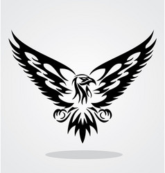 Eagle tribal vector